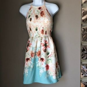 BePop Floral Halter Dress size small